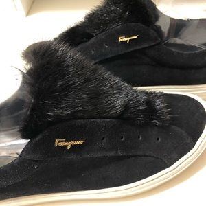 Authentic Salvador Ferragamo  sneaker with fur